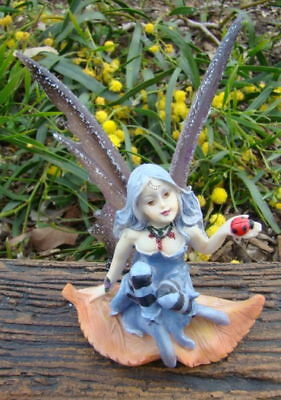 Fairy With Lady Bug Bnib Home Or Garden Decor Ornament Statue