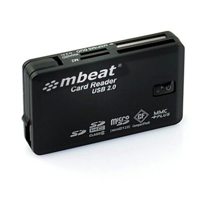 mbeat USB 2.0 super speed multiple card reader with tuck-away USB design