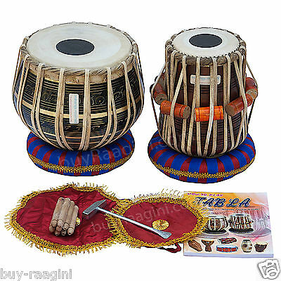 Maharaja™ Tabla Drum Set/3Kg Black Brass Bayan/sheesham Dayan/bag/book/box/ea-2
