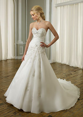 New White/ivory Wedding Bride Dress ball Gown Size Custom 4 6 8 10 12 14 16 18++