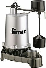 Simer Submersible Sump Pump Stainless Steel 3/4 Hp