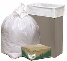 Earthsense Can Liner Trash Bags Tall Kitchen Low-Density 24X31 13 Gallon .85Mil