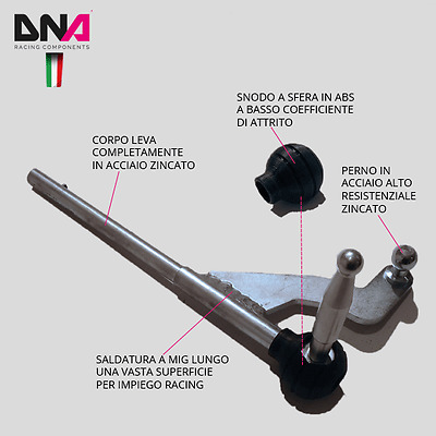 Dna Racing Kit Leva Cambio Stage 01 Fiat 500 Abarth News 2017 Pc0292
