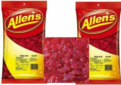 Allens Frogs Alive Red 2.6 kg Lollies Bulk Party Favors Sweets Favours Allen's