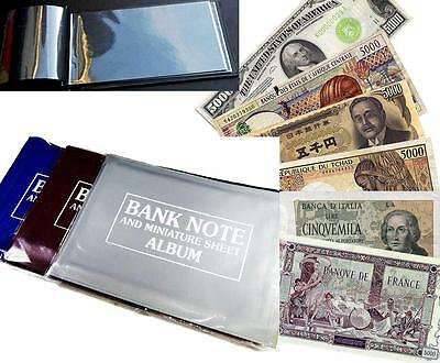 Currency Album with 15 Different World Countries Legal Foreign Banknotes Lot UNC