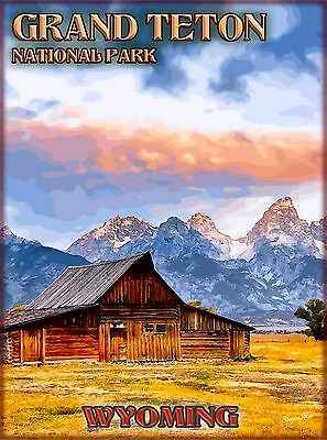 Grand Teton National Park Wyoming United States Travel Advertisement Poster