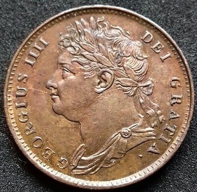 1821 Farthing. S.3882. Extremely Fine With Lustre.