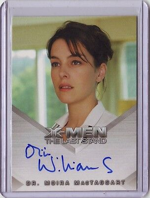 X-Men Last Stand Olivia Williams Dr Moira MacTaggart FULL autograph auto card