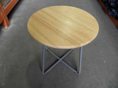 New Tesco Side End Lamp Coffee Table Wooden Top Grey Legs Rp
