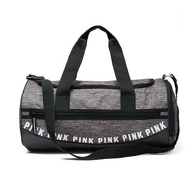 Victoria's Secret Pink Gym Duffle Bag Gray Marl - New!