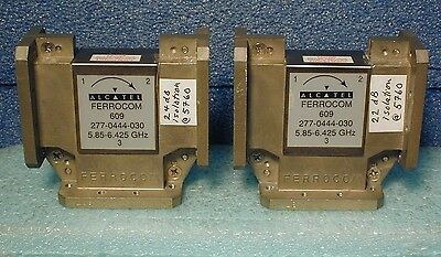 WR-137 waveguide circulator, lot of two