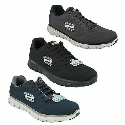 6d3fb0393ddc Mens Skechers Synergy Fine Tune Lace Up Lightweight Memory Foam Trainers  51524
