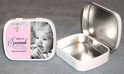 Baptism Christening Favor Photo Mint Tin Personalized