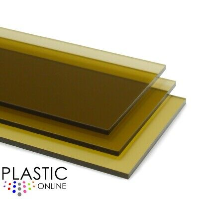 Brown Transparent Colour Perspex Acrylic Sheet Plastic Panel Cut to Size