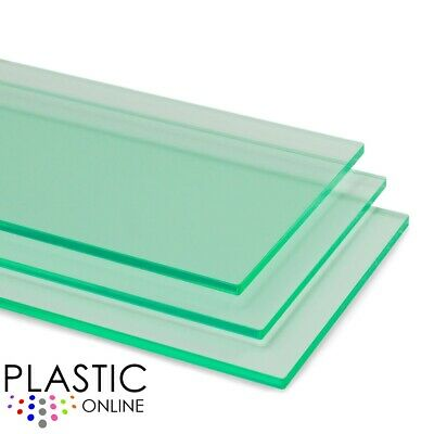 Light Green Transparent Colour Perspex Acrylic Sheet Plastic Panel Cut to Size