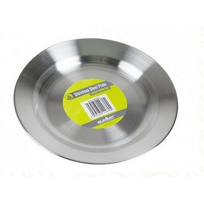 Summit Stainless Steel Plate 25 Cm Picnic Camping Outdoor Travel 664004