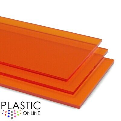 Amber Tint Perspex Acrylic Sheet Colour Plastic Panel Material Cut to Size