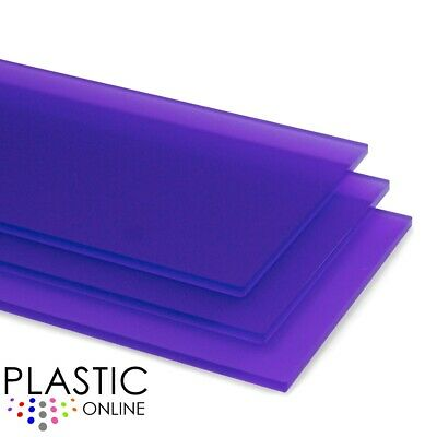 Aurora Violet Frost Matt Perspex Acrylic Sheet Colour Plastic Panel Cut to Size