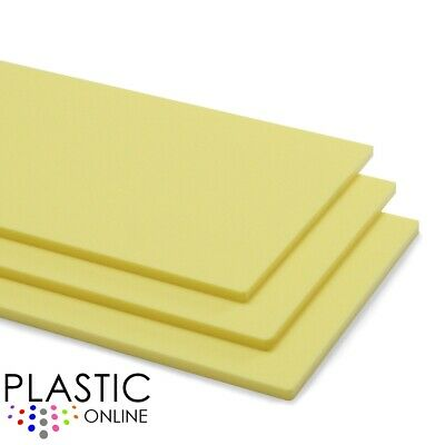 Lemon Bonbon Yellow Pastel Perspex Acrylic Sheet Plastic Panel Cut to Size