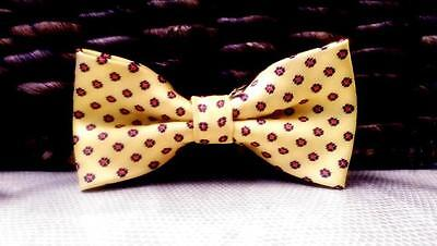Baby/Toddler Boy's Yellow Patterned Bow Tie for Springtime!