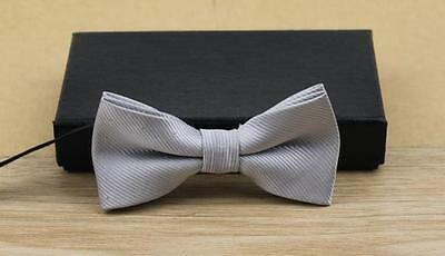 """Baby/Toddler Boy's Silver Gray Sparkle Bow Tie and 25"""" Silver Gray Suspenders"""