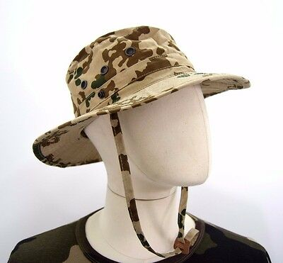 German Army Tropetarn Bush Hat Camo Camouflage Original Boonie Sun Jungle Desert