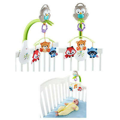 Baby Musical Mobile 3 In 1 Woodland Friends Infant Crib Mounted Entertainment