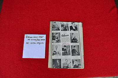 Gibson Catalog Vintage Late 1930s  Only A Gibson Is Good Enough Original