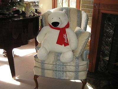 Giant Coca Cola Polar Bear 2 Feet Tall 2007 Limited Edition Advertising Bear USA