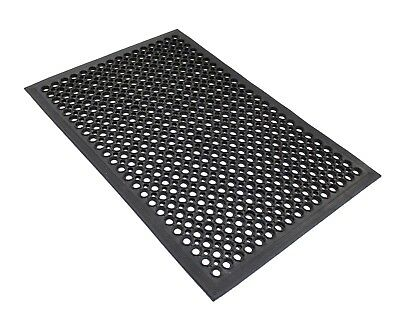 Envelor Home and Garden Anti-Fatigue Rubber Commercial Floor Mat with Drainage