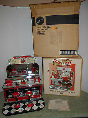 Barbie Coca-Cola Soda Fountain Complete Mint Original Boxes