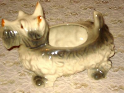 Japan Mbs 485 Pottery Scottie Planter Antique/vintage Xlnt Condition