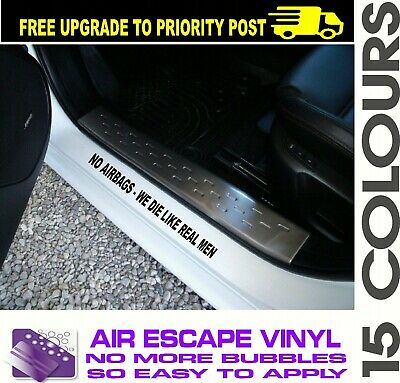 2 x NO AIRBAGS 4x4 door sill pair ute Car Sticker 400mm 15 colors