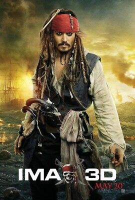 PIRATES OF THE CARIBBEAN ON STRANGER TIDES MOVIE POSTER DS ORIGINAL IMAX 27x40