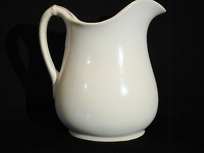 Antique Liverpool Ohio McNichol White Ironstone Pitcher 18892-1910