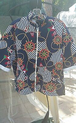 Stephen Williams Nautical Retro Hipster 70s Vtg Terry Cloth Cabana Jacket Beach