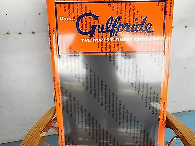 Gulf Oil & Gas Company Gulfpride World's Finest Motor Oil Metal Chalkboard Sign