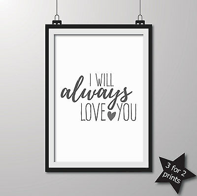 Inspirational QUOTE poster ART Print Typography wall decor gift ~ love you..
