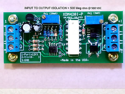 Full Optically Isolated (0-10V/4-20mA) Passive-Powered Loop Signal Converter