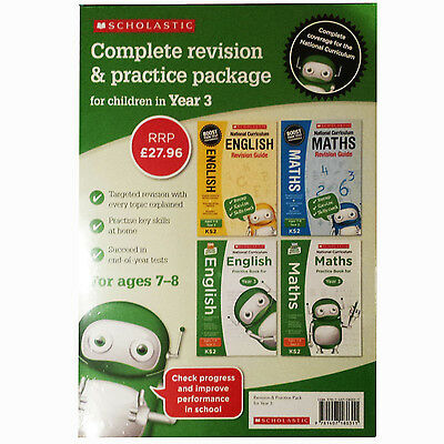 2017 KS2 English Maths Year 3 Curriculum Revision Practice 4 BOOKS Scholastic