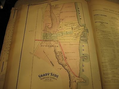 1876 Bergen County Nj. Atlas With 45 + Maps Published By Pease Very Rare