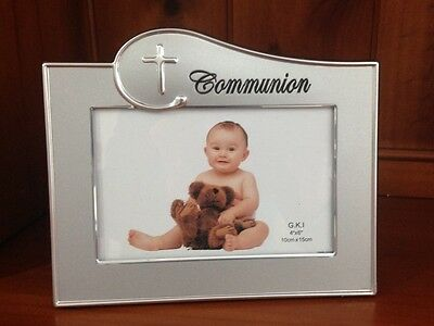 Silver Communion Photo Frame Baby Religious Photo Frame 10cm x 15cm Baby Gift