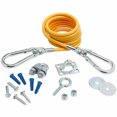 T&S Brass AG-RC Gas-Connector Restraining Kit with 5-Ft Cable/ Hardware (T7B1)