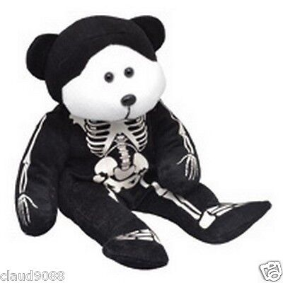 "Skansen Cuddly Kid ""skully The Skeleton  Bear"" Mint With Mint Tag October - 2012"