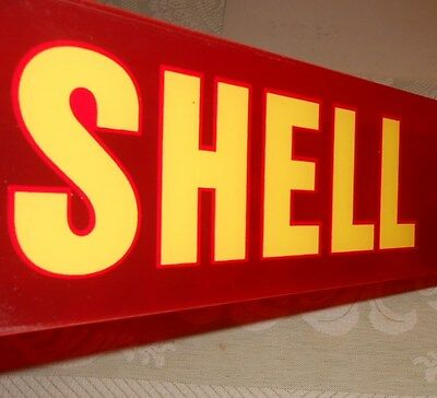 1960s SHELL GAS AND OIL SIGN FOR GAS PUMP NEW OLD STOCK