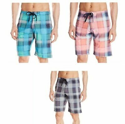 Kanu Surf Men's Gray, Blue or Coral Board Shorts ~ Pick Size & Color ~Style 2452