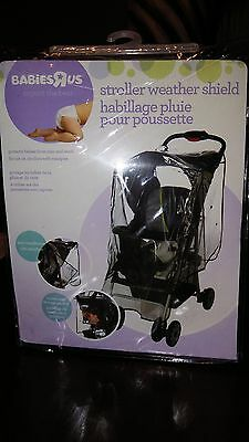 Babies R Us Jogging Stroller Weather Shield Cover New Clear