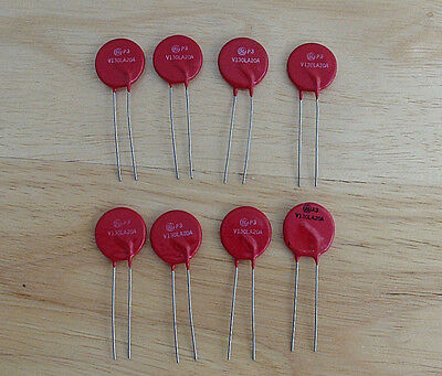 Set of 8 General Electric (GE) Varistors Part # V130LA20A