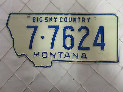 MONTANA, USA  license plate tag from 1970