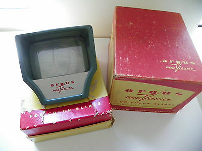 Vintage Argus Previewer For Color Slides with Original Box, MPN 660